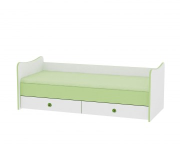 MAXI PLUS_PVC Grid_Teenage Bed_White&Green_NEW